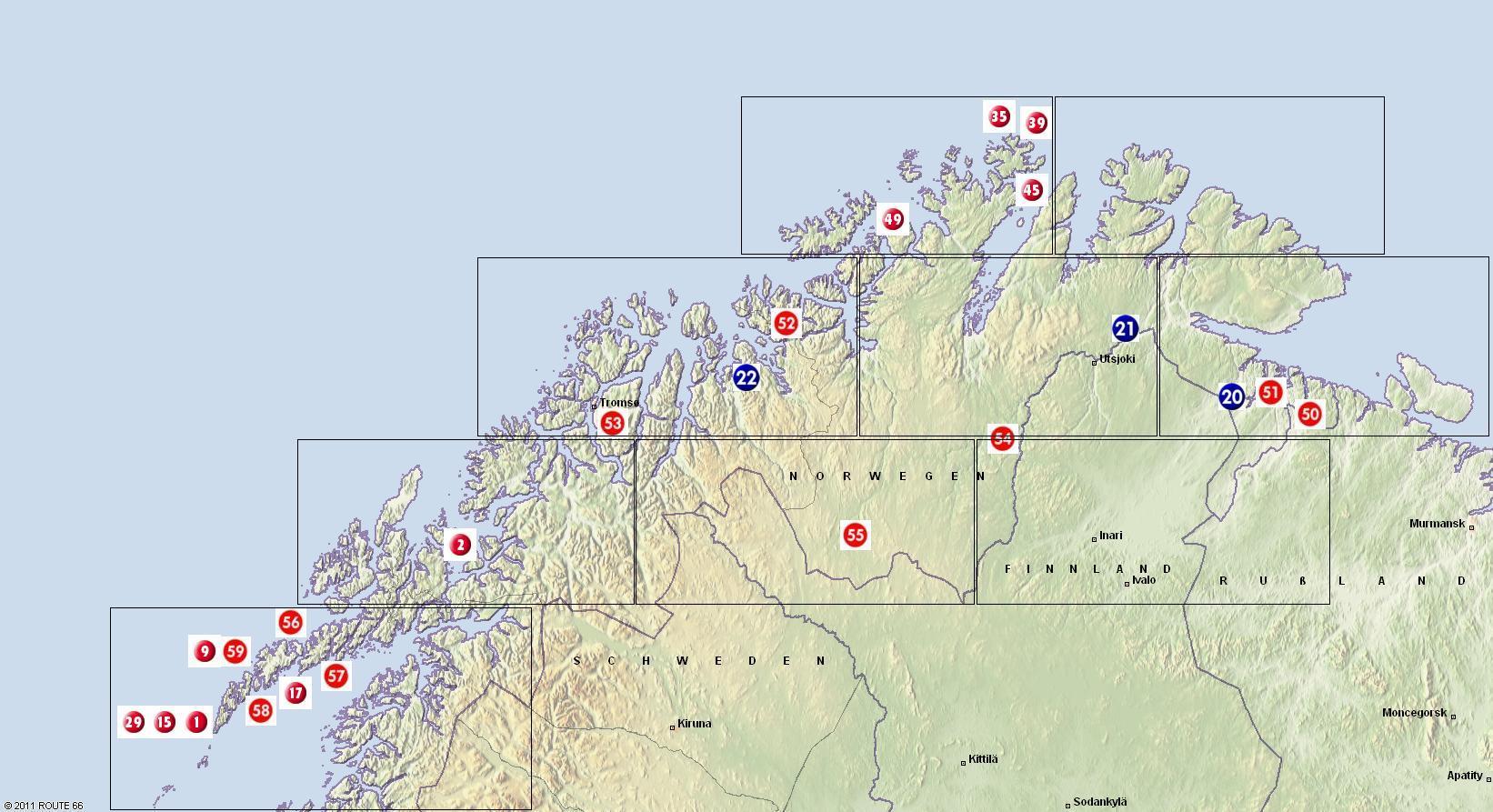 norwegen sehenswürdigkeiten karte Reiseziele norwegen sehenswürdigkeiten karte